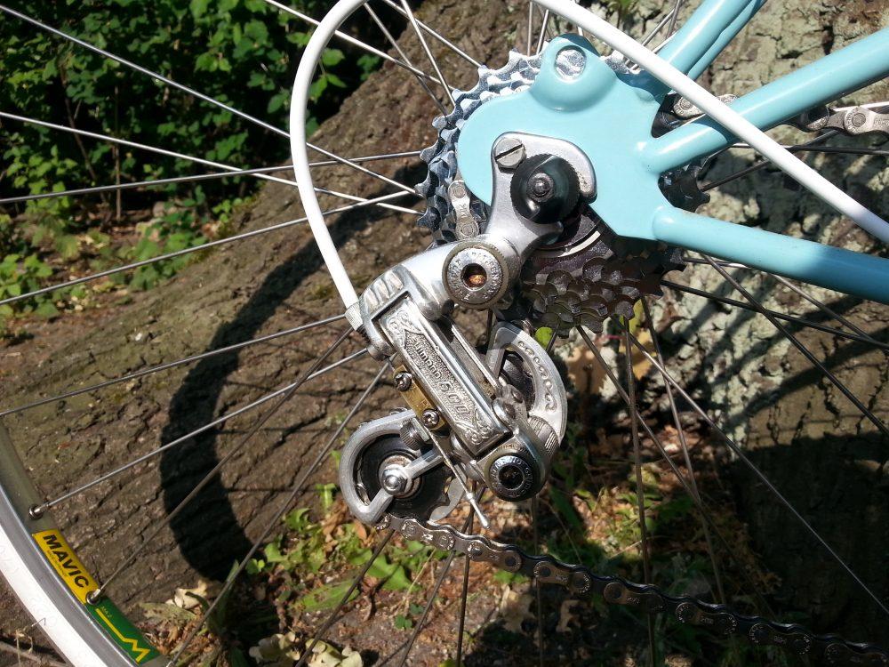 Vintage Rennrad Peugeot Carbolite Schimano 600 Schaltwerk