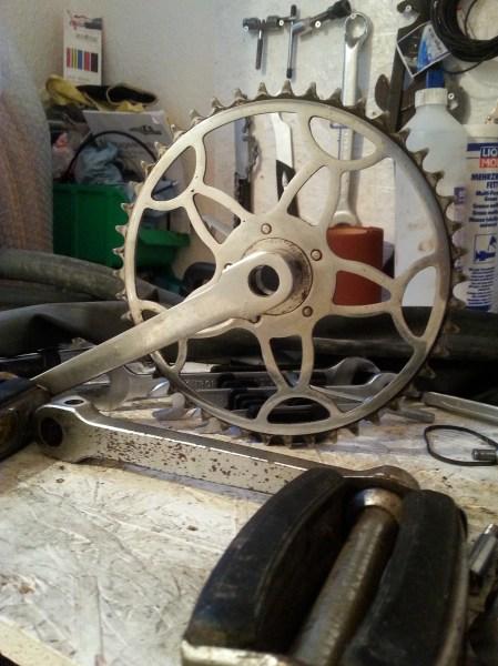 Diamant Fahrrad Modell 101 Kettenblatt restauriert