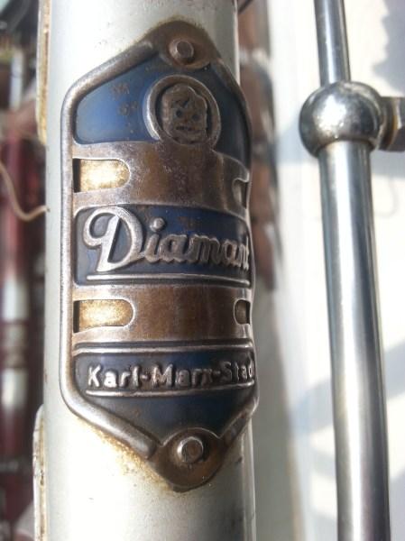 Diamant Fahrrad Modell 101 Steuerkopfschild restauriert