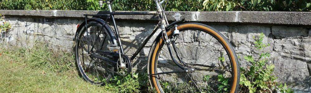 Miele Oldtimer Fahrrad Modell Original Rückansicht