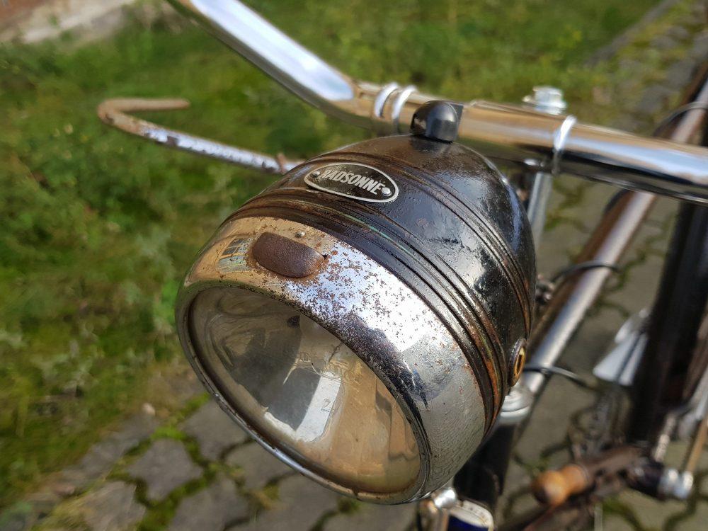 Phänomen Oldtimer Fahrrad Radsonne Scheinwerfer 30er Jahre
