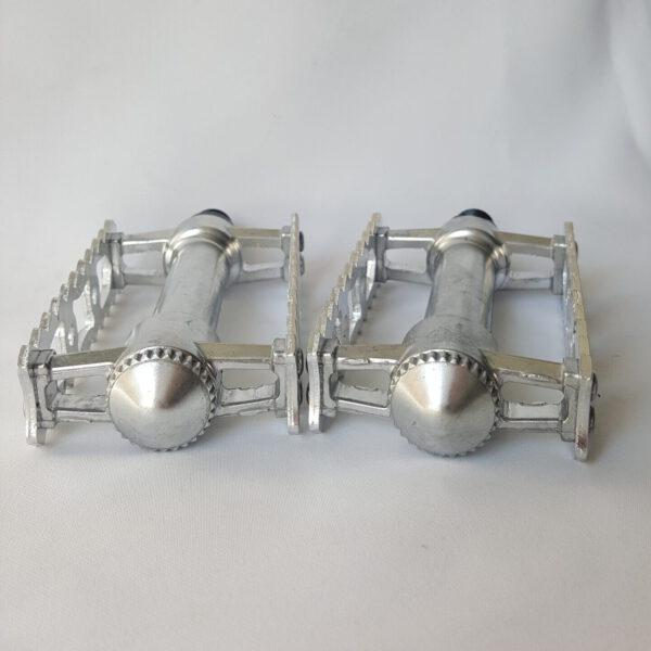 1 Paar Rennrad Pedale Brave Classic Silber