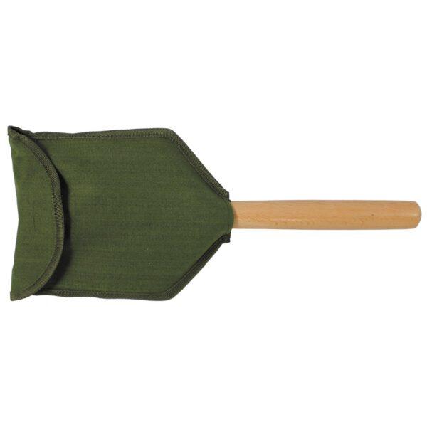 Klappspaten mit Holzstiel