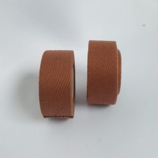 Stofflenkerband Velox Braun 250 x 2 cm